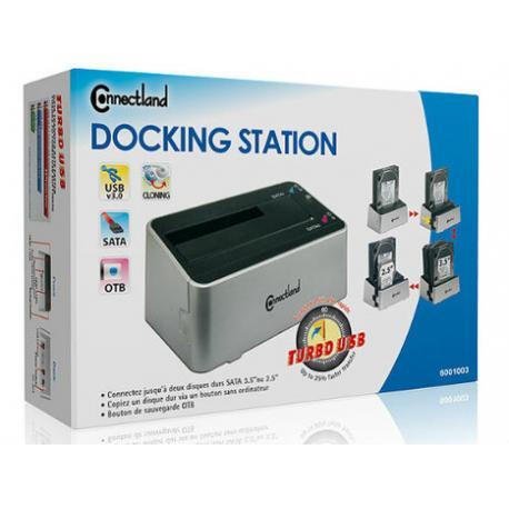 STATION D'ACCUEIL DOUBLE USB3 POUR DISQUE DUR 2,5 ET 3,5 SATA