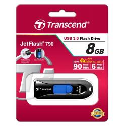 Clé USB 3.0 8 Go Noir TRANSCEND